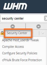 WHM Security Center