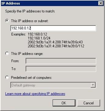 Windows Firewall block an IP address