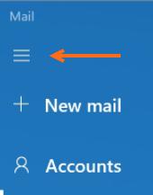 Windows - Mail - 3-bar