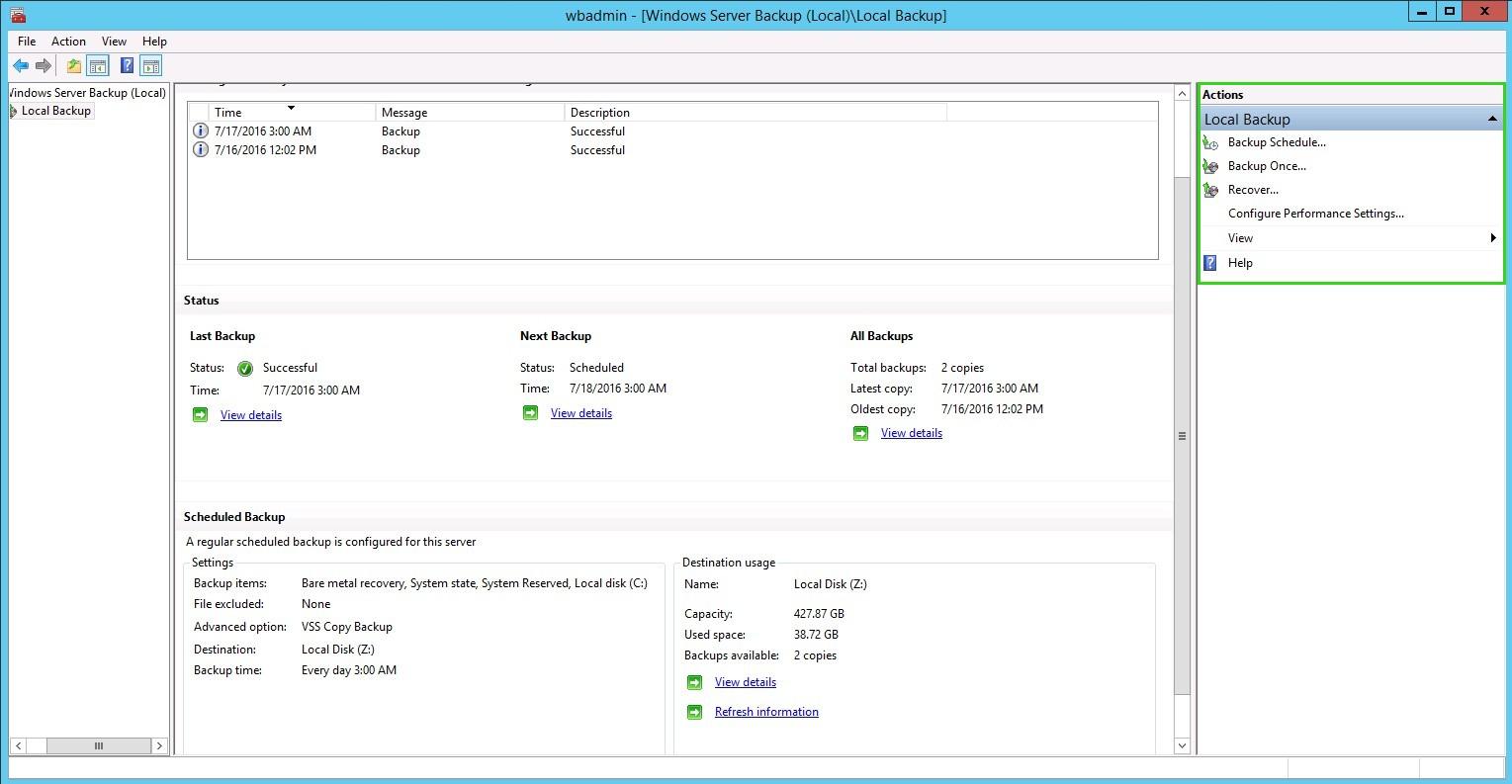 Windows Server Backup | HostGator Support