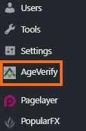 AgeVerify Settings
