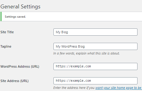 WordPress Successful Confirmation prompt