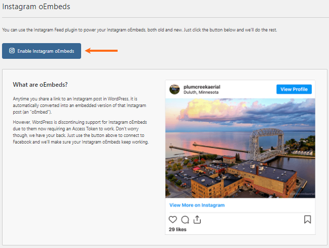 WordPress - Enable Instgram oEmbeds