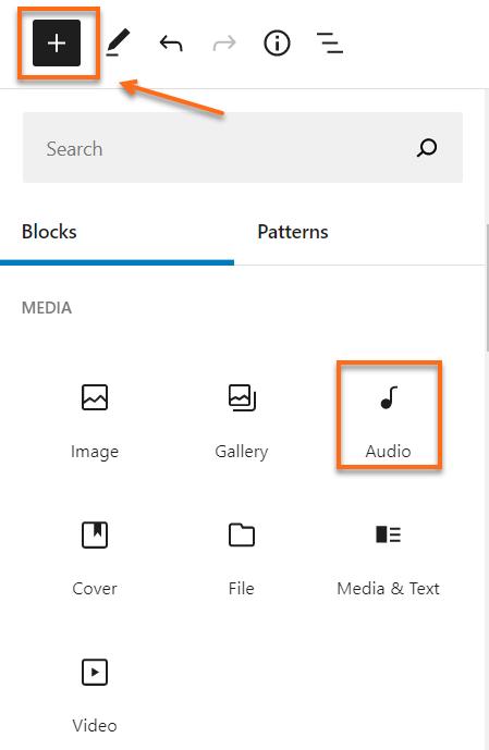 WordPress Add Audio