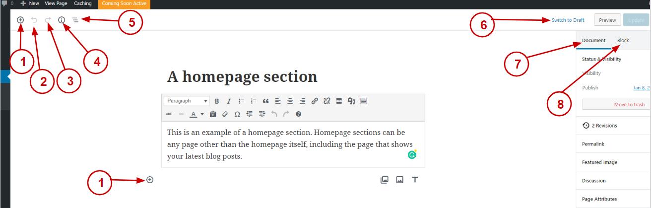 Location for WordPress New Block.