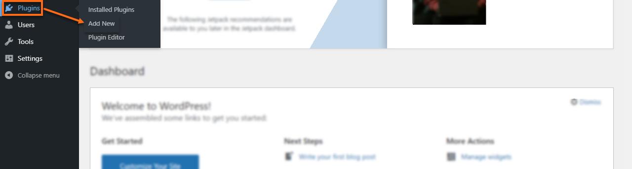 WP Dashboard Add New Plugins