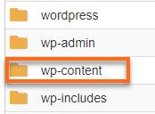 wp_content folder
