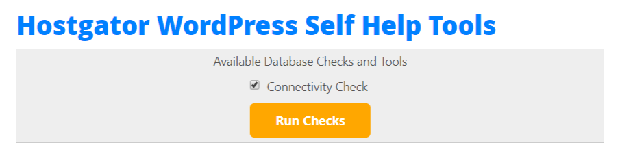 WordPress Connectivity Check Tool