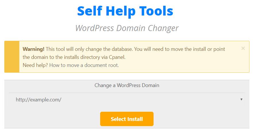 Domain Changer Tool